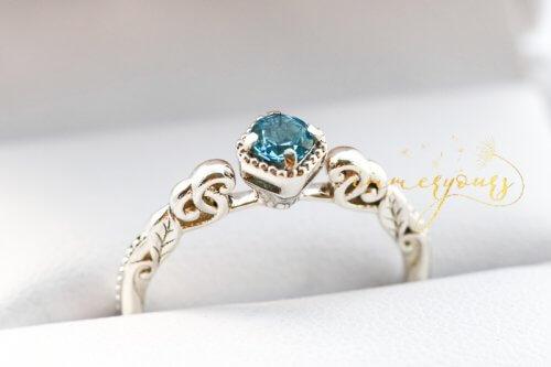 Keepsake Jewellery Gemstone-Keepsake-Ring-Topaz-Ashes-